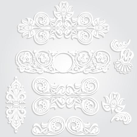 Ornament in Art Nouveau style. Paper patterns.