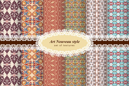 classic art: Ornament classic Art Nouveau. Floral and abstract pattern.