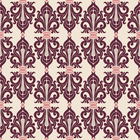 Seamless ornament classic Art Nouveau. Floral and abstract pattern. Illustration