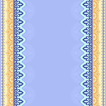 Colored stylized lace frame, colors and patterns.