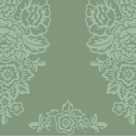 Blank invitation. Floral ornament and place for text. Illustration