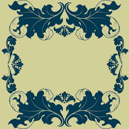 Stylized floral ornaments can be painted in any color.