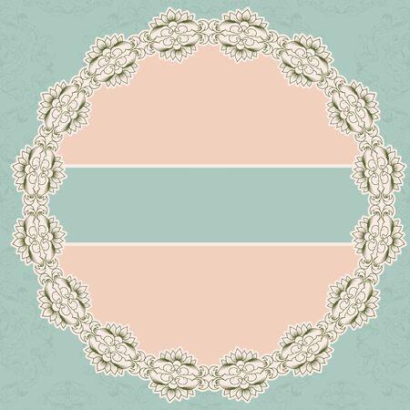 napkins: Vector lacy napkins framework of calligraphic elements.