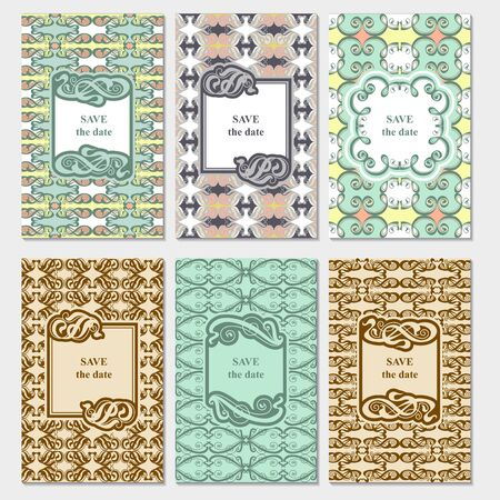 nuptial: Set of card templates for Save The Date and any cards, invitations.