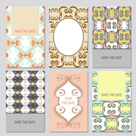 Set of card templates for Save The Date and any cards, invitations.