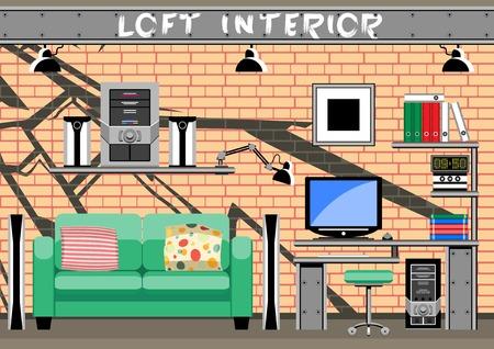 teen boys: Sala interna nel loft per i ragazzi adolescenti. Set soggetti.