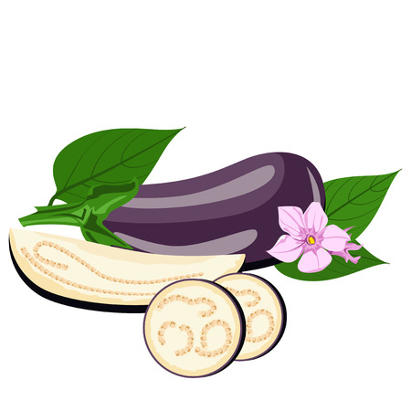 edible: Eggplant - the flowers, the whole fruit and cut into pieces.