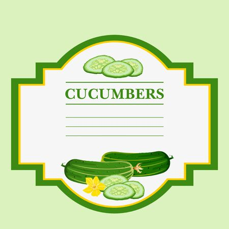 cucumbers: Cucumbers. Label, there is a place for your text.