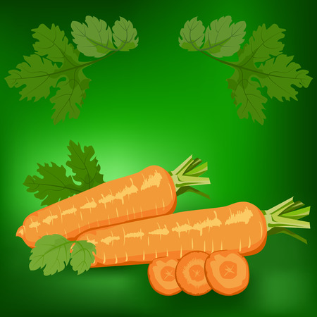 carrot: Carrots. Label, there is a place for your text. Healthy food.
