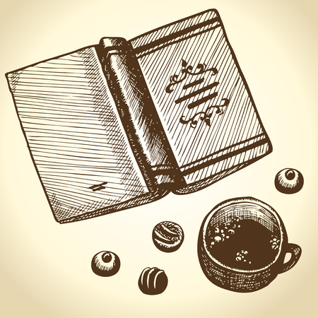 You can read a book and drinking tea with sweets.