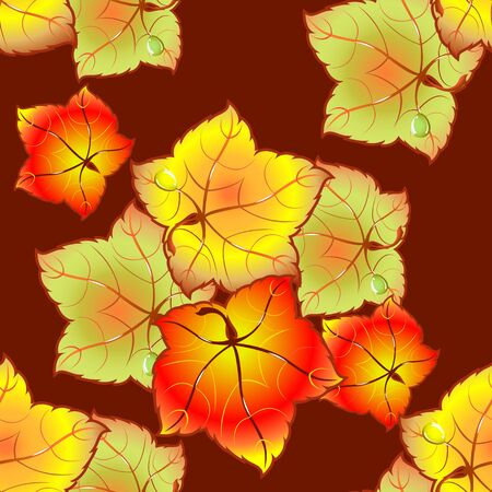 autumn colors: Autumn leaves of different colors. Template cards and invitations.