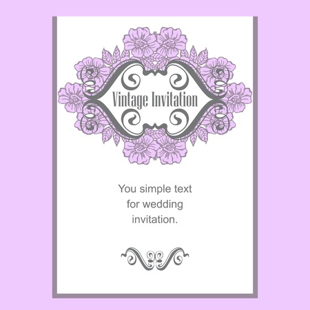 rose hips: Vintage template cards and invitations. Flowers and rose hips.