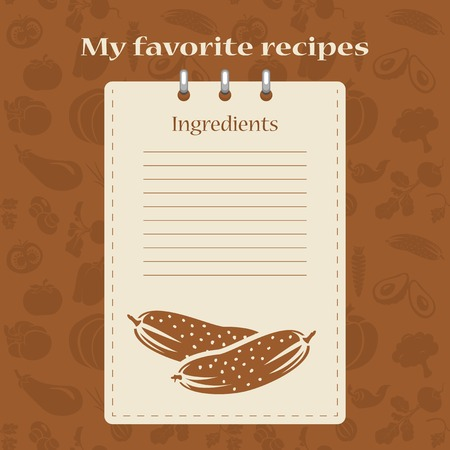 text books: Template for recipe books. Space for your text. Seamless background. Illustration