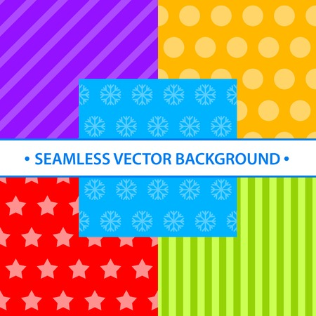 Set of simple seamless different colors. They can be used for wrapping paper and background your New Year and Christmas design.
