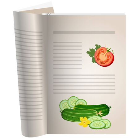 Template pages of a cookbook