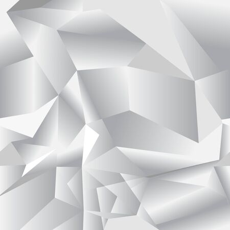 Geometric seamless pattern from triangles. Gray vector illustration.