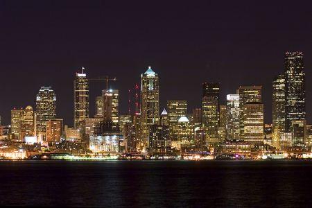 Seattle at night photo