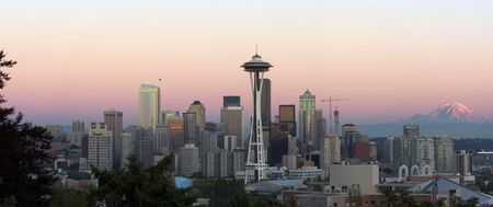 Seattle at dusk Stock Photo - 225350
