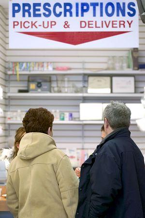 store shelf: Pharmacy pick-up