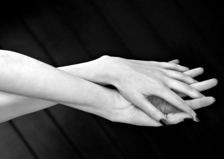 plasticity: Twisted hands Stock Photo
