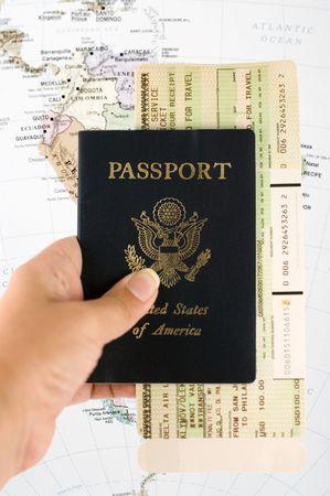 passport: Documentos del recorrido Foto de archivo