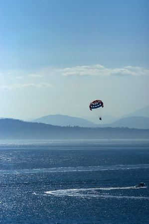 puget sound: Parasailing on the lake