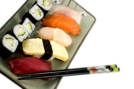 susi: Sushi plate Stock Photo