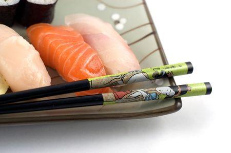 susi: Sushi plate close up