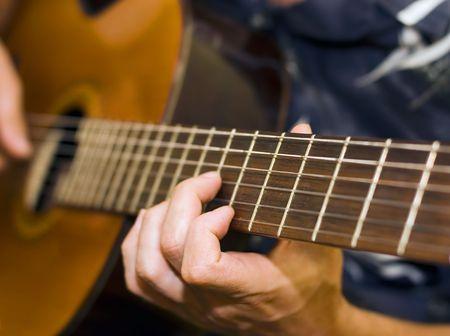 Gitarist Stockfoto