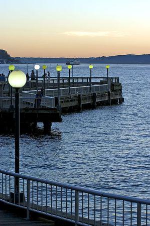 stroll: Evening stroll in Seattle
