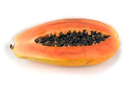Papaya, isolated photo