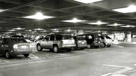 Airport parking lot