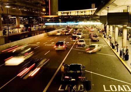 Airport arrival terminal 版權商用圖片