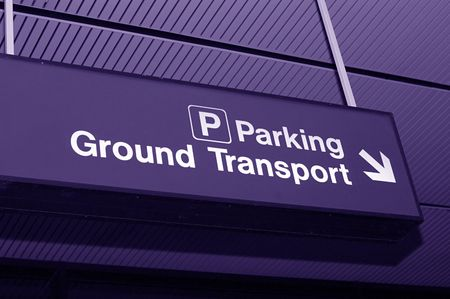 Airpot sign to parking