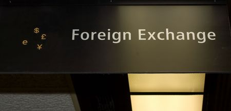 currency exchange: Currency exchange sign Stock Photo