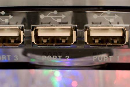USB Hub (ports) Stock Photo