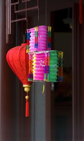 Colorful chinese paper lamps Stock Photo - 241473