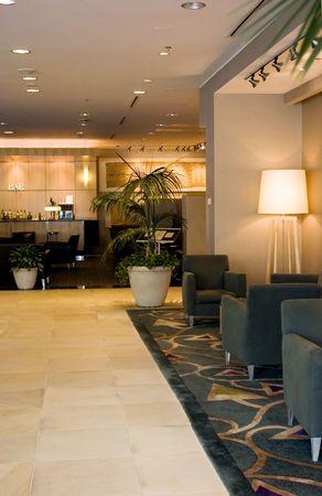 4 5: Hotel lobby and bar