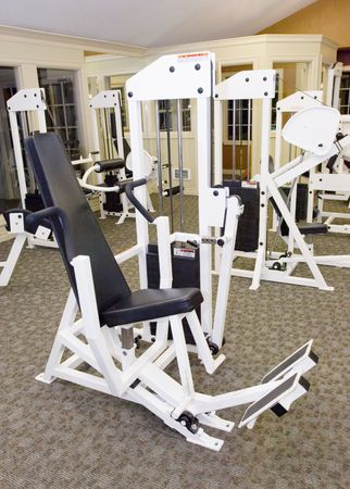 health facilities: Gym in apartment complex Stock Photo