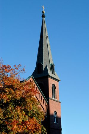 massachussets: Old new england church in Boston