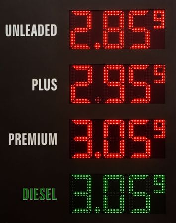 benzine: Gas prices electronic table
