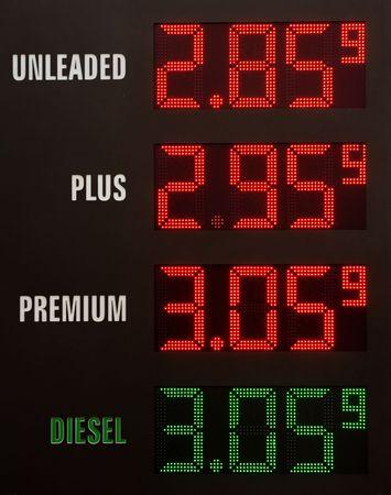 benzine: Gas prices electronic table