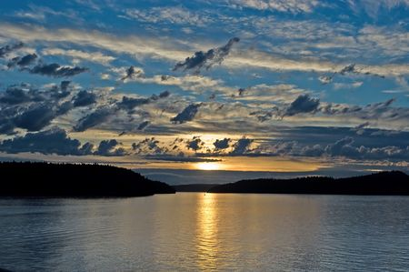 Sunset in the Pacific, Washington state Stock Photo - 248424
