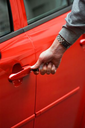 New car oner Stock Photo