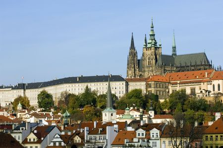 Prague castle 免版税图像