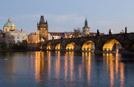 Charles bridge (Prague) at night