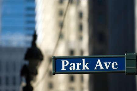 ave: Park Avenue in New York Stock Photo