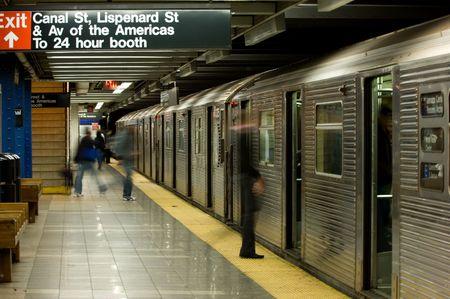 New York subway station Stock Photo