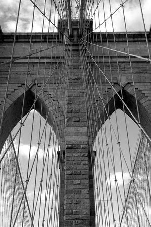 Brooklyn bridge in black and white Stock Photo - 286060