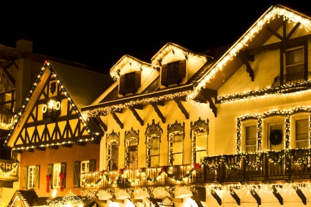 christmas decoration in alpine ski village Stock Photo - 289753